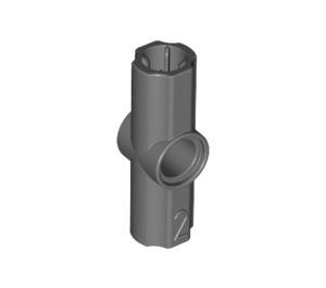 LEGO Dark Stone Gray Angle Connector #2 (180º) (32034 / 42134)
