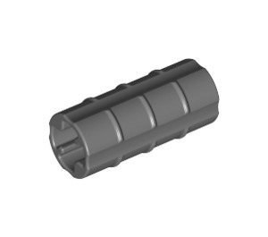 LEGO Dark Stone Gray Axle Connector (Ridged with 'x' Hole) (6538)