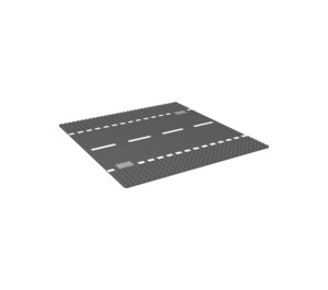 LEGO Baseplate 32 x 32 Road 6-Stud Straight with White Dashed Lines (44336 / 54201)