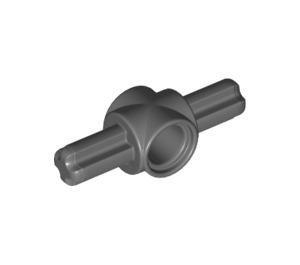 LEGO Dark Stone Gray Beam 1 Hole with 2 Axles 180° (27940)