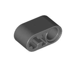 LEGO Dark Stone Gray Beam 1 x 2 with Axle Hole and Pin Hole (40147 / 60483 / 74695)