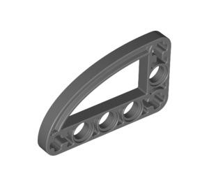 LEGO Dark Stone Gray Beam 3 x 5 x 0.5 Bent 90 Quarter Ellipse (32250 / 65714)
