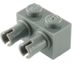 LEGO Dark Stone Gray Brick 1 x 2 with 2 Pins (30526 / 53540)