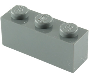 LEGO Dark Stone Gray Brick 1 x 3 (3622)