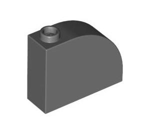 LEGO Dark Stone Gray Brick 1 x 3 x 2 Curved Top (33243)