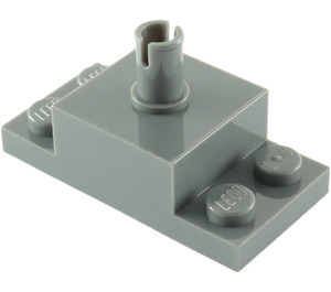 LEGO Dark Stone Gray Brick 2 x 2 with Vertical Pin and 1 x 2 Side Plates (30592 / 42194)