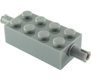 LEGO Dark Stone Gray Brick 2 x 4 with Pins (6249 / 65155)
