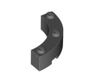 LEGO Dark Stone Gray Brick Corner 4 x 4 (Wide with 3 Studs) (48092)