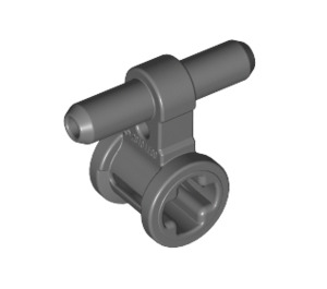 LEGO Dark Stone Gray Bushing with Pneumatic Connectors (53895 / 99021)