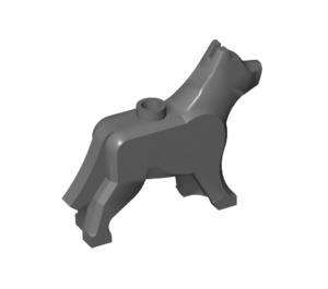 LEGO Dark Stone Gray Dog / Wolf (48812)