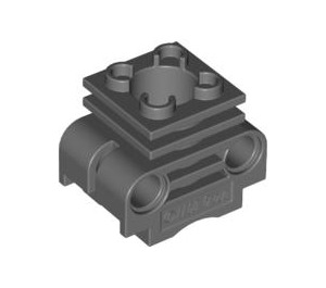 LEGO Dark Stone Gray Engine Cylinder with Slots in Side (2850 / 32061)