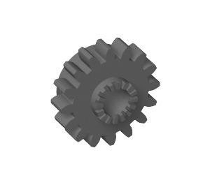 LEGO Dark Stone Gray Gear 16 Tooth with Clutch (with Teeth around Hole) (6542)