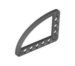 LEGO Dark Stone Gray Half Beam 5 x 7 Bent 90 degrees with Curve (32251)