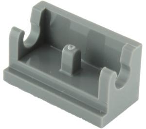 LEGO Dark Stone Gray Hinge 1 x 2 Base (3937)