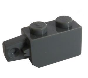 LEGO Dark Stone Gray Hinge Brick 1 x 2 Locking with Single Finger (Vertical) On End (30364)
