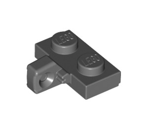 LEGO Dark Stone Gray Hinge Plate 1 x 2 Locking with Vertical Stub with Bottom Groove (44567)