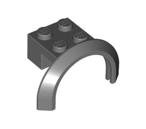 LEGO Dark Stone Gray Mudguard with Round Arch 4 x 2 1/2 x 2 (50745)