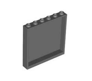 LEGO Dark Stone Gray Panel 1 x 6 x 5 (59349)