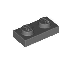 LEGO Dark Stone Gray Plate 1 x 2 (3023)