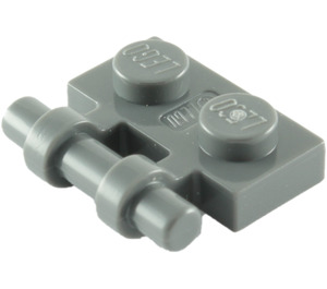 LEGO Dark Stone Gray Plate 1 x 2 with Handle (Open Ends) (2540)