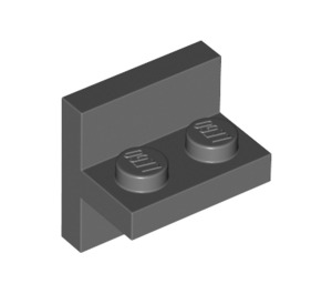LEGO Dark Stone Gray Plate 1 x 2 with Vert. Tube (41682)