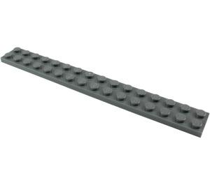 LEGO Dark Stone Gray Plate 2 x 16 (4282)