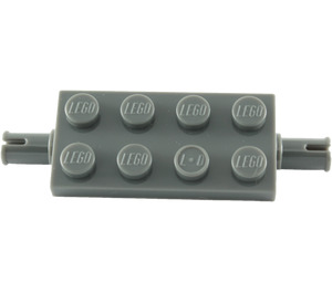 LEGO Dark Stone Gray Plate 2 x 4 with Pins (30157)