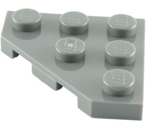 LEGO Dark Stone Gray Plate 3 x 3 without Corner (2450)