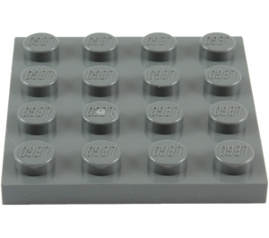 LEGO Dark Stone Gray Plate 4 x 4 (3031)
