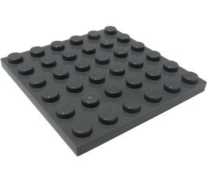 LEGO Dark Stone Gray Plate 6 x 6 (3958)