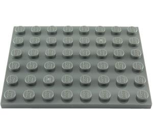 LEGO Dark Stone Gray Plate 6 x 8 (3036)