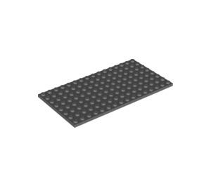LEGO Dark Stone Gray Plate 8 x 16 (92438)