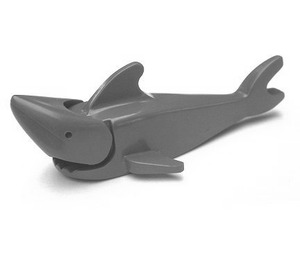 LEGO Dark Stone Gray Shark with Pointed Nose