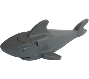 LEGO Dark Stone Gray Shark with Rounded Nose