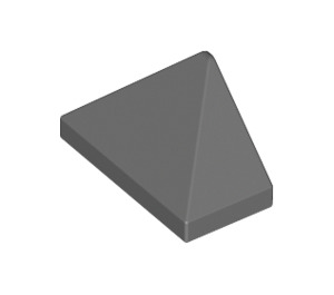 LEGO Dark Stone Gray Slope 1 x 2 (45°) Triple with Inside Stud Holder (15571)