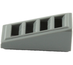 LEGO Dark Stone Gray Slope 1 x 2 x 0.6 (18°) with Grille (61409)