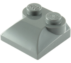 LEGO Dark Stone Gray Slope 2 x 2 Curved with Curved End (47457)