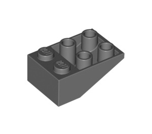 LEGO Dark Stone Gray Slope 25° (33) 2 x 3 Inverted without Connections between Studs (3747)