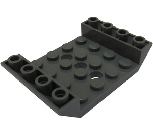 LEGO Dark Stone Gray Slope 4 x 6 45° Double Inverted with Open Center 3 x Ø4.9 Holes (30283 / 60219)