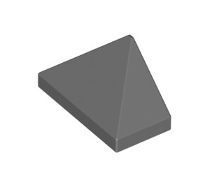 LEGO Dark Stone Gray Slope 45° 1 x 2 Triple with Smooth Surface (3048)