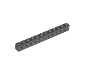 LEGO Dark Stone Gray Technic Brick 1 x 12 with Holes (3895)