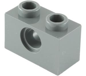 LEGO Dark Stone Gray Technic Brick 1 x 2 with Hole (3700)