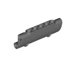 LEGO Dark Stone Gray Technic Curved Panel 7 x 3 (24119)