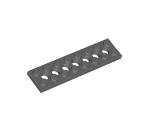 LEGO Dark Stone Gray Technic Plate 2 x 8 with Holes (3738)