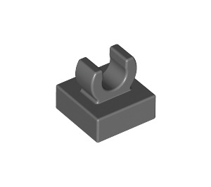 "LEGO Dark Stone Gray Tile 1 x 1 with Clip (Raised ""C"") (15712 / 44842)"