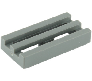 LEGO Dark Stone Gray Tile 1 x 2 Grille (with Bottom Groove) (2412)