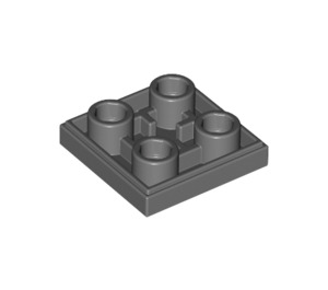 LEGO Dark Stone Gray Tile 2 x 2 Inverted (11203)