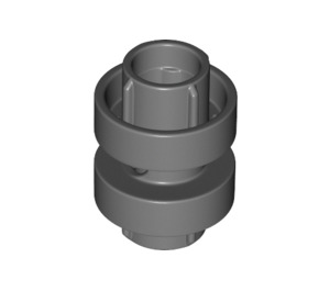 LEGO Dark Stone Gray Toggle Gear Shifter Ring with Axle Holes (18947)