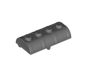 LEGO Dark Stone Gray Treasure Chest Lid 2 x 4 with Thick Hinge (4739)