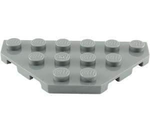 LEGO Dark Stone Gray Wedge Plate 3 x 6 with 45º Corners (2419)